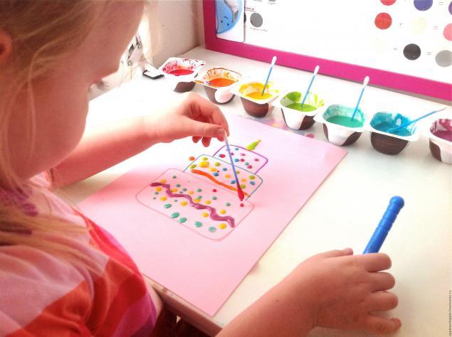 Краски своими руками для малыша
